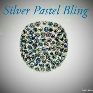 Silver Ring Accented w/Pastel Bling